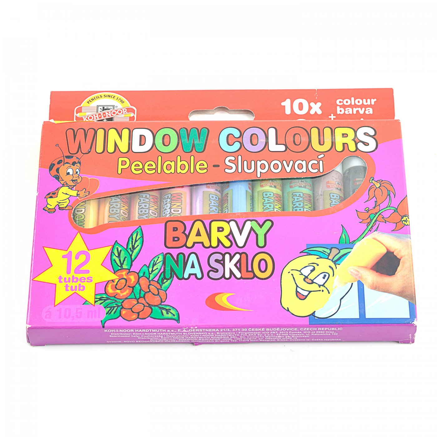 Sada zlupovacích farieb na sklo 12 x 10 883b2c01469