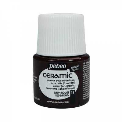 Ceramic 45 ml, 18 Red brown