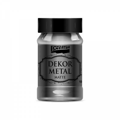 Dekor Metal matná 100 ml, antracitová