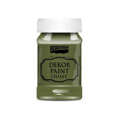 Dekor Paint Soft 100 ml, tŕňová zelená
