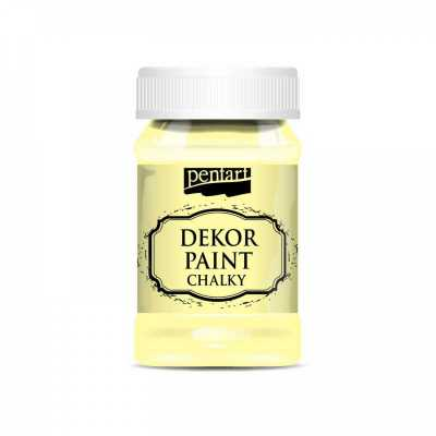 Dekor Paint Soft 100 ml, žltá
