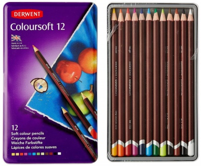 Derwent, Sada pasteliek COLORSOFT, 12 ks