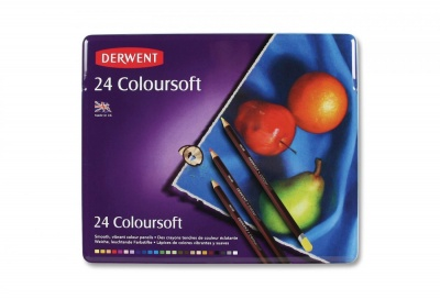 Derwent, Sada pasteliek COLORSOFT, 24 ks