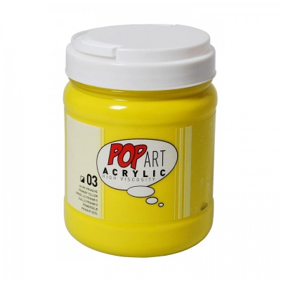 POP ART Acrylic 700 ml, 03 Primary Yellow