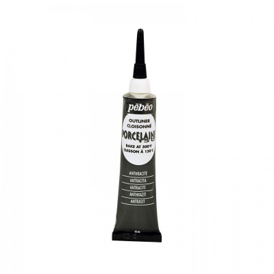 Porcelaine 150 kontúra 20 ml, 06 Anthracite black