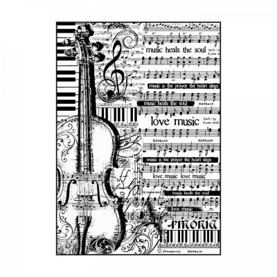 Ryžový papier, A4, Sheet music with violin