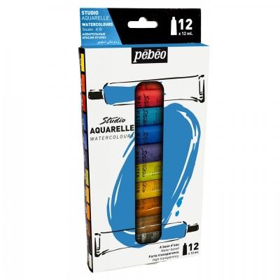 Sada Studio Aquarelle watercolours 12 x 12 ml
