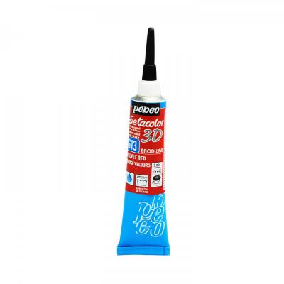 Setacolor 3D 20 ml, brod'line, 613 Velvet red