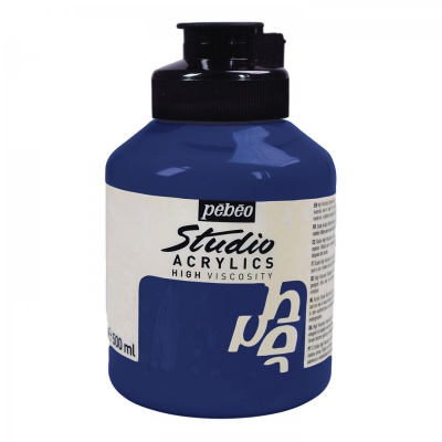 Studio Acrylics 500 ml, 17 Phthalocyanine blue