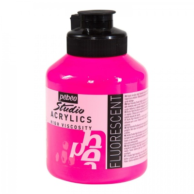 Studio Acrylics 500 ml, 371  Fluorescent pink