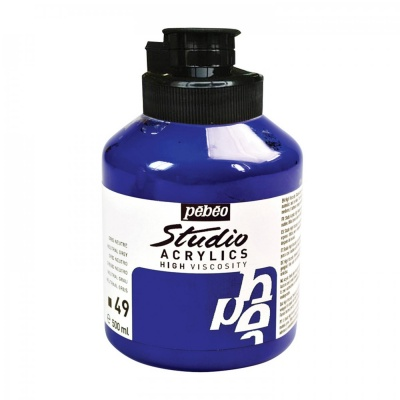 Studio Acrylics 500 ml, 49 Primary cyan
